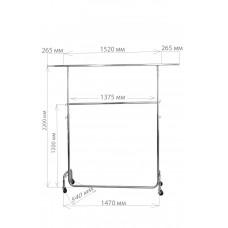 St1050/1004  Вешалка двойная chrome с регулировкой высоты