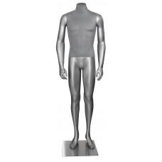 Манекен чоловічий без голови (сріблястий) Н-166
