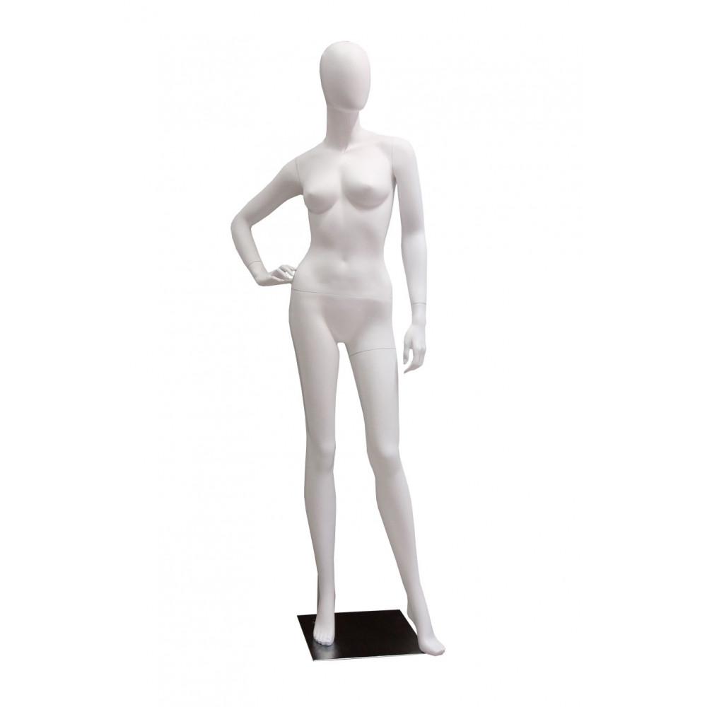 Манекен жіночий білий безликий, FBLA-YE1