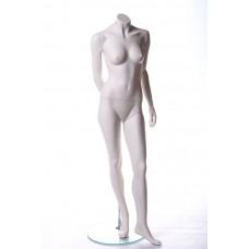 Манекен жіночий білий без голови MM-BG08 (RAL 9010)