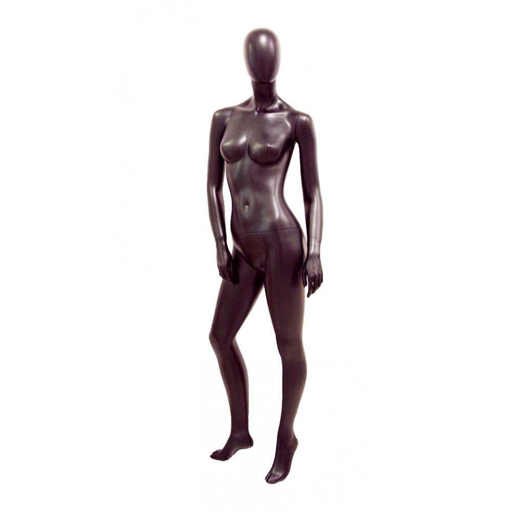 Манекен жіночий чорний матовий безликий, JL-ALF-B