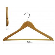 Вішаки для одягу з резиновою доріжкою на поперечині type 1A