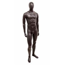 Манекен мужской черный матовый безликий, JCM-12