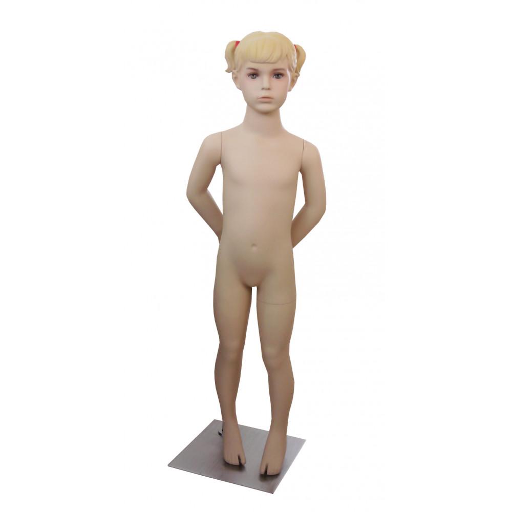 Манекен дитячий тілесний реалістичний (дівчинка 110 см), Ch-7