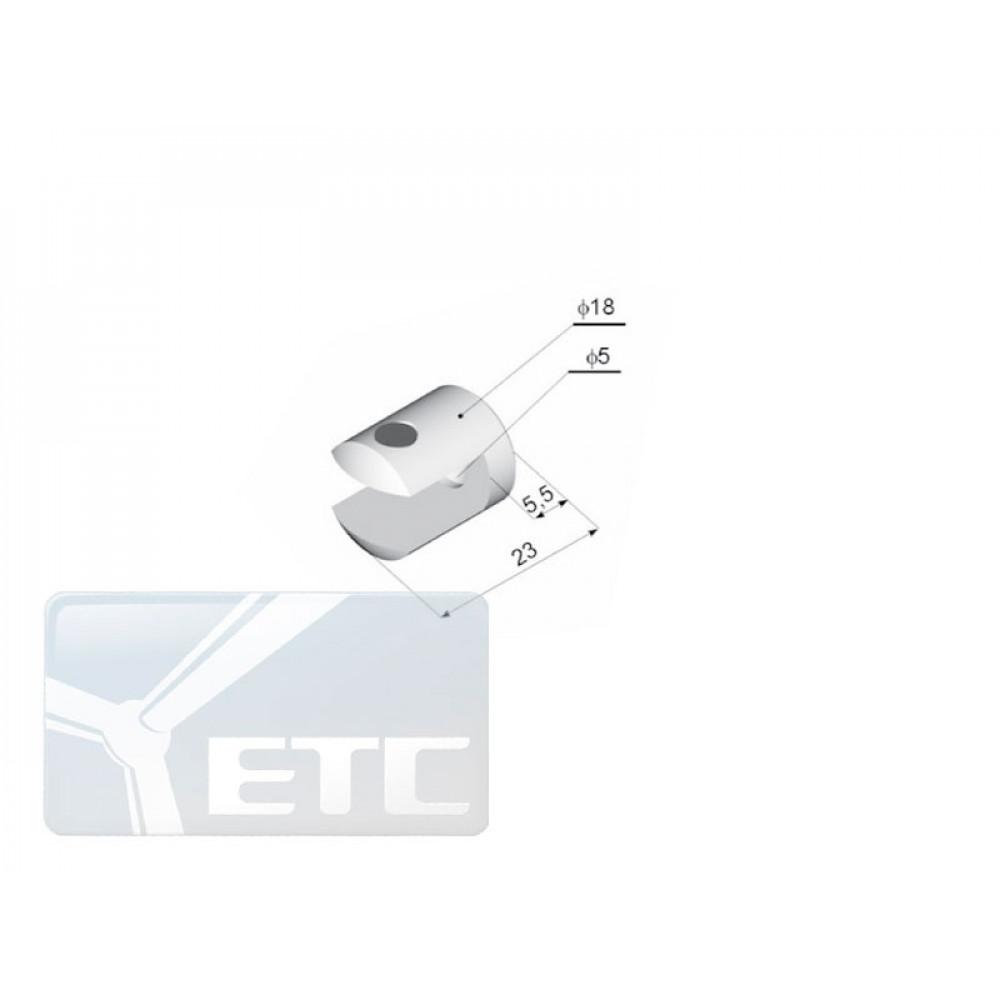 SP2-36 Крепление стеклянной полки к плоскости (канал 9мм)