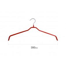 Плічка для одягу type 6 метал. 35см (червона)
