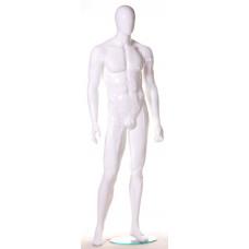 MMG-2 Манекен чоловічий безликий, білий глянець
