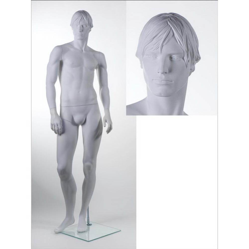 Манекен чоловічий ВА-04 head 6 (білий RAL 9016)