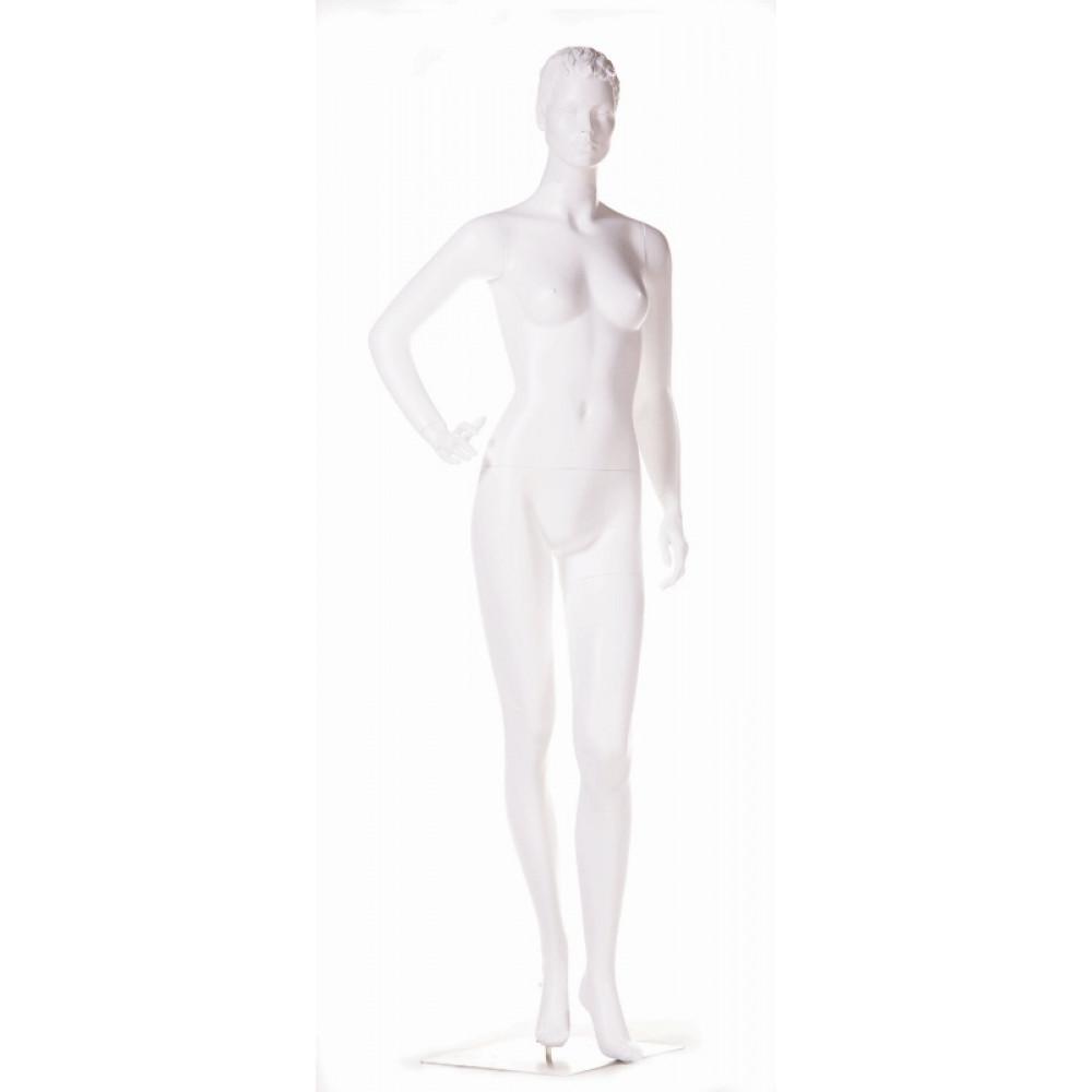 WK-4Zw/Mic Манекен женский белый БЕЗ МАКИЯЖА