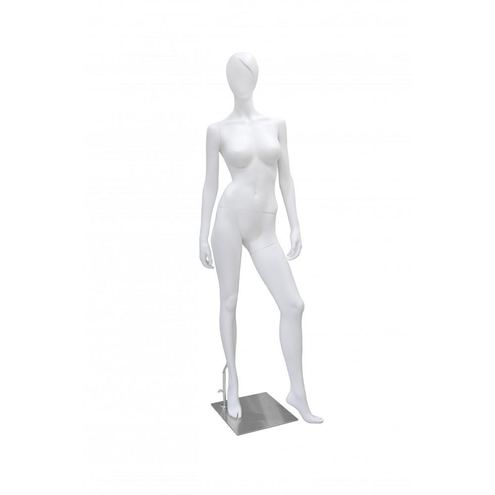 Манекен жіночий матовий білий (чуб), GM-M-FT2A