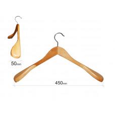 Плечики для одежды type 2В (бук) с широкими плечиками без перекладины