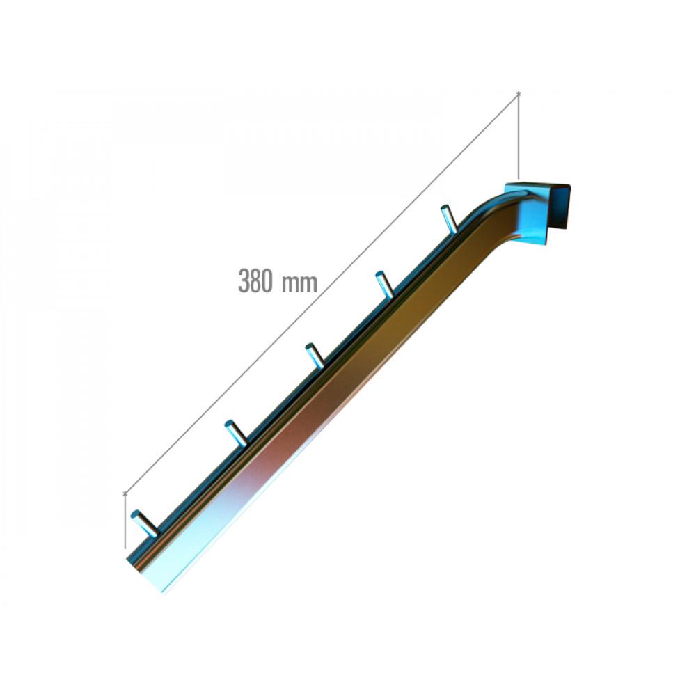 VR-7F2-05 Навесной элемент наклонный 380мм. хром.