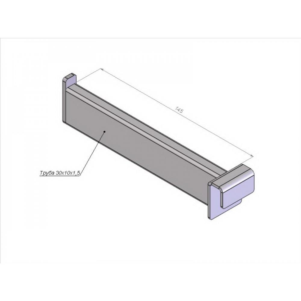 Кронштейн прямой 145мм, прямоугольная труба 30*15мм, крашен.