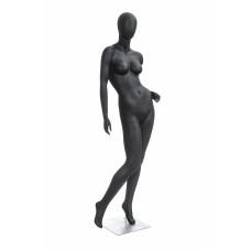 Манекен жіночий чорний безликий, POLLY-4