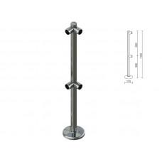 OG0554 Стійка для перегородок з подвійним крепл. для 2-х труб під кутом dm40
