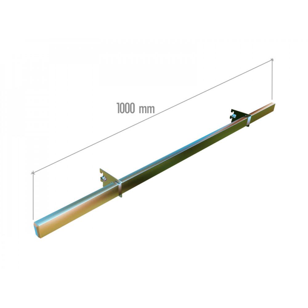 VR-7F2-01 Перекладина 32*16*1000, компл. (заглушка-2шт., держатель-2шт.) хром