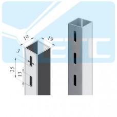 V1R-25b Профиль квадратный односторонний 25*25*2400 нерж.