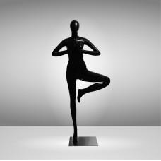 YOGA-8 Манекен женский чёрный безликий