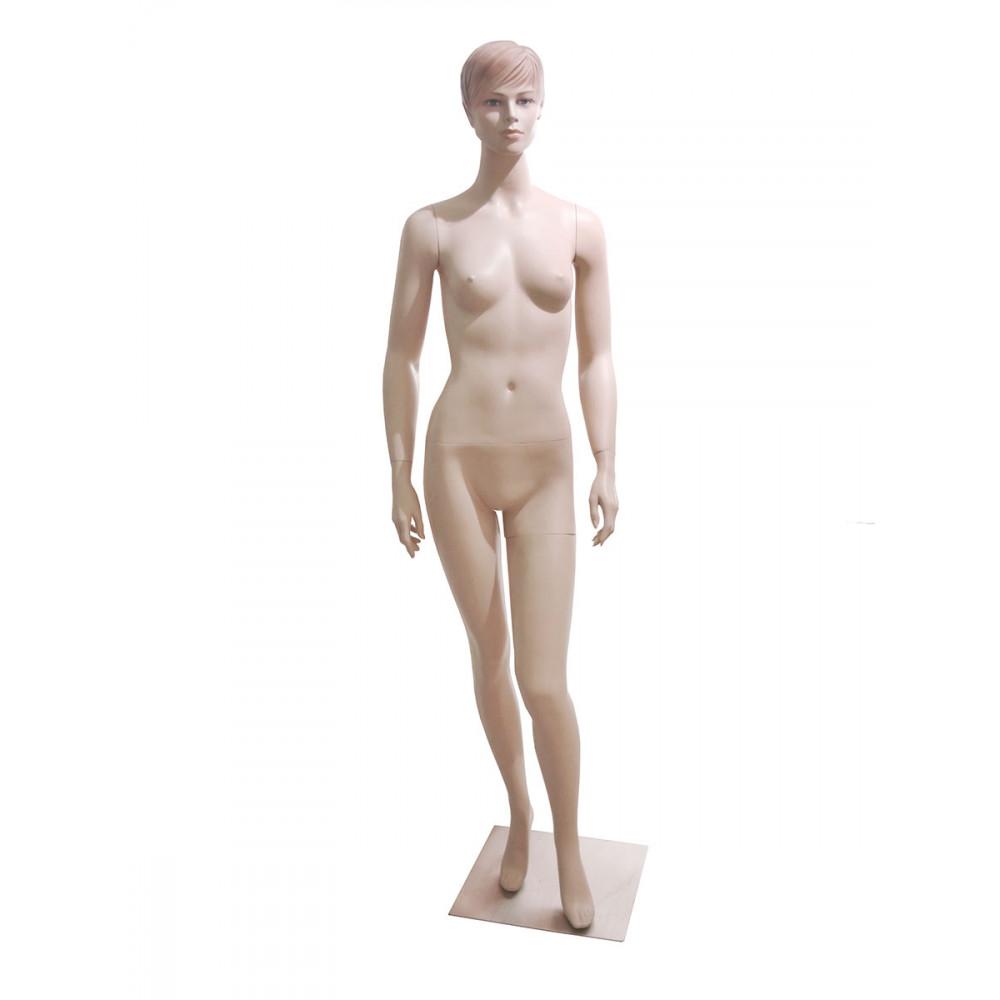 WK-4/Dan Манекен женский телесный реалистичный С МАКИЯЖЕМ