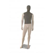Манекен чоловічий тілесний (голова і торс тканинні), GM-CH-048AB FB