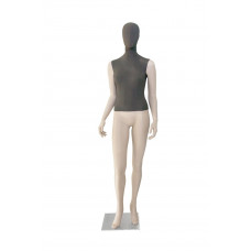 Манекен жіночий тілесний (голова і торс тканинні), GM-CH-696AB FB