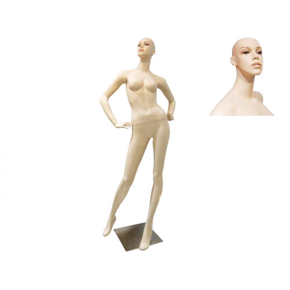 AA-4 Манекен женский телесный реалистичный С МАКИЯЖЕМ (без парика)