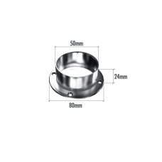 M7401 (К) Пятка для трубы 50мм (хром)