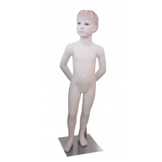 Манекен дитячий білий з макіяжем (дівчинка 106 см), CH-10W