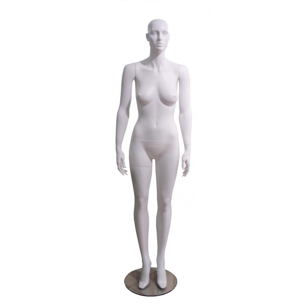 Манекен жіночий білий без макіяжу, ROSE-3w