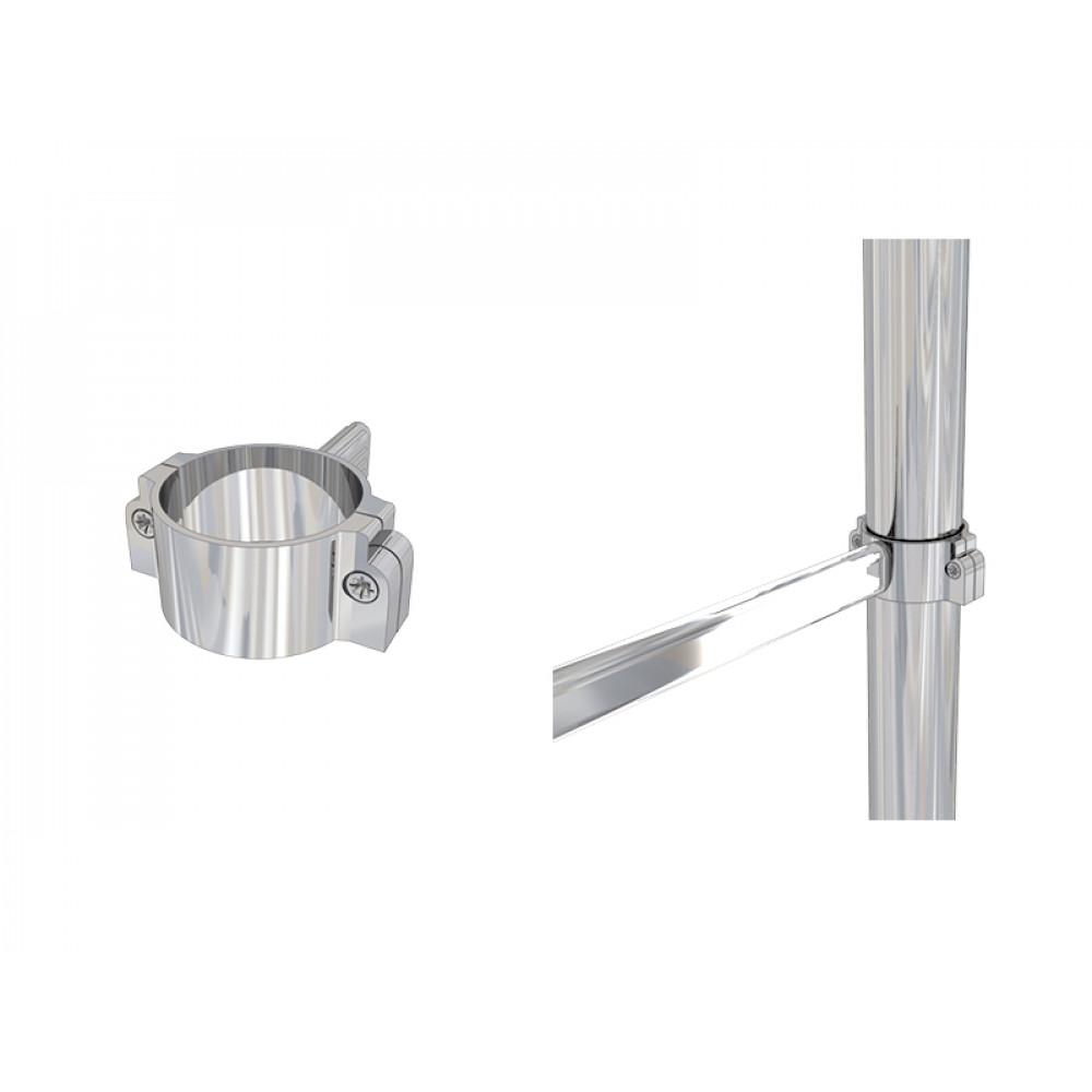 PL24 Односторонний держатель для овальной трубы dm50/dm30*15*1,5