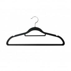 Вішаки для одягу чорні пластикові з поперечиною W-42р (02-5)