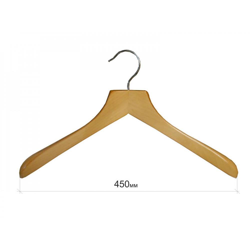 Плечики для одежды type Deluxe(бук) с широкими плечиками без перекладины