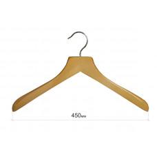 Вішак для одягу з широкими плечима без поперечини,  бук type Deluxe