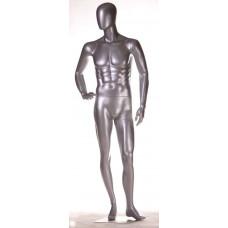 FBME-AL2 Манекен чоловічий безликий сріблястий