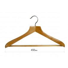Плечики для одежды type Deluxe(бук) с широкими плечиками и ПЕРЕКЛАДИНОЙ