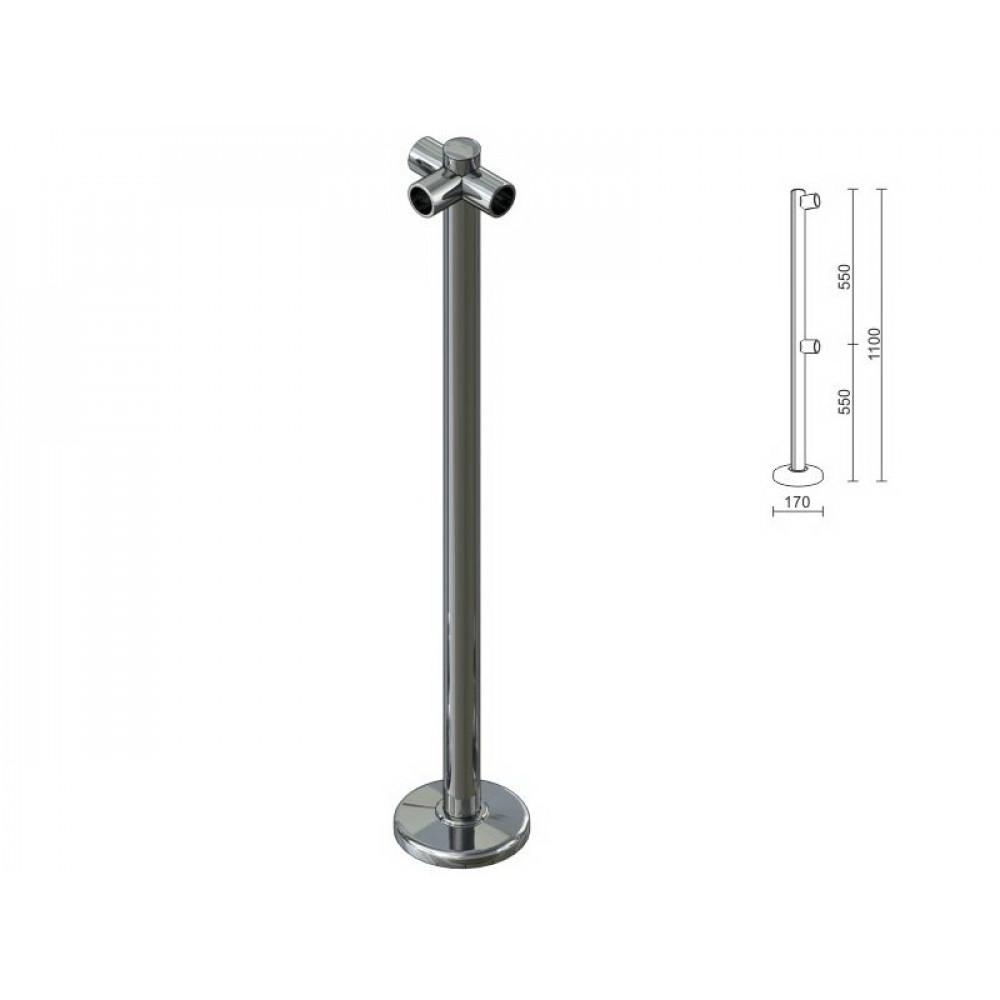 OG0542 Стойка для перегородок с крепл. для 3-х труб dm40