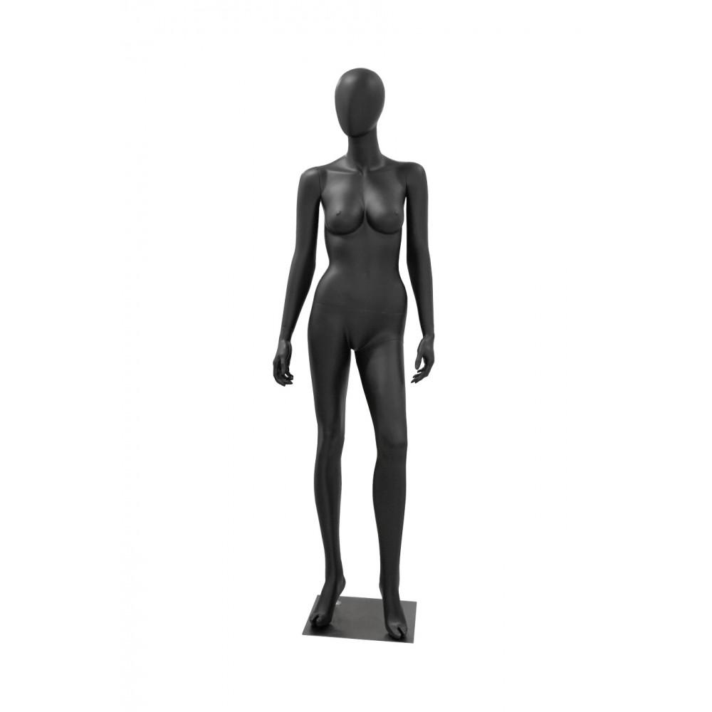 MAYA-2 Манекен женский безликий, черный МАТ