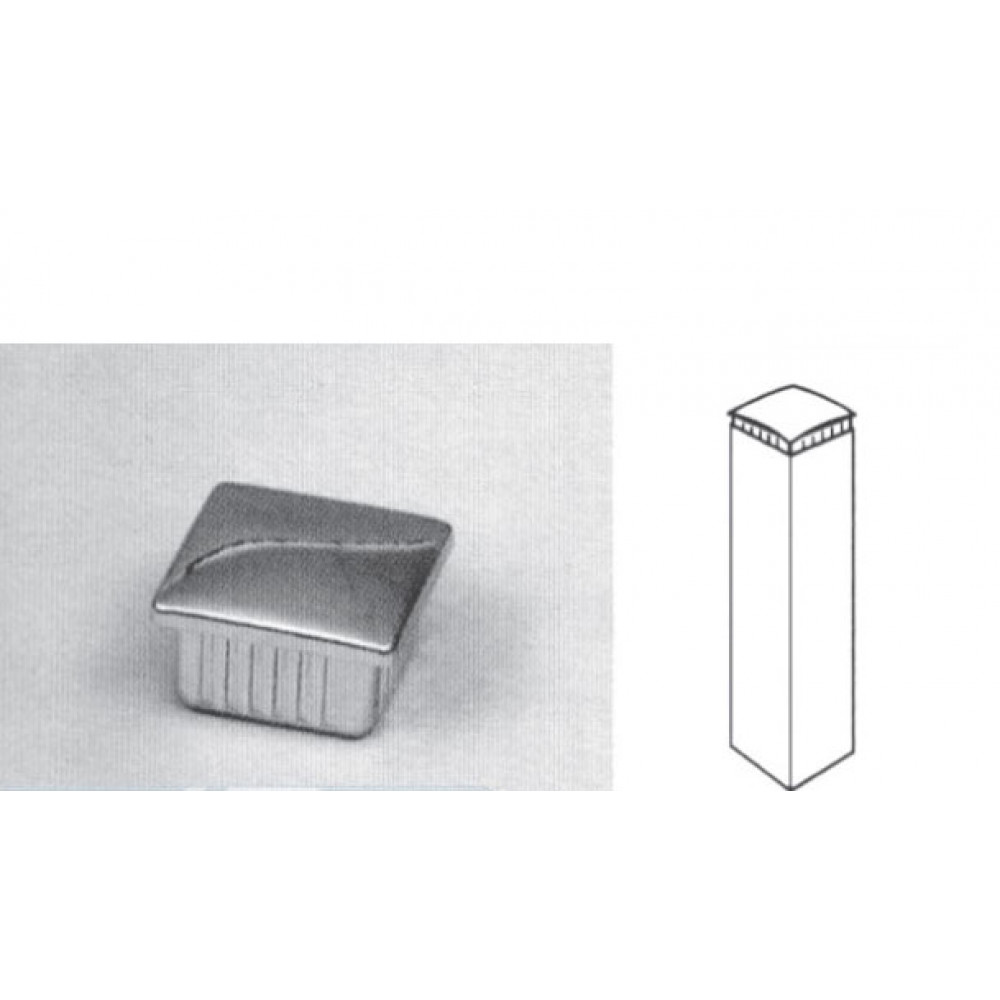 Pr9 Заглушка (хром) 20*20