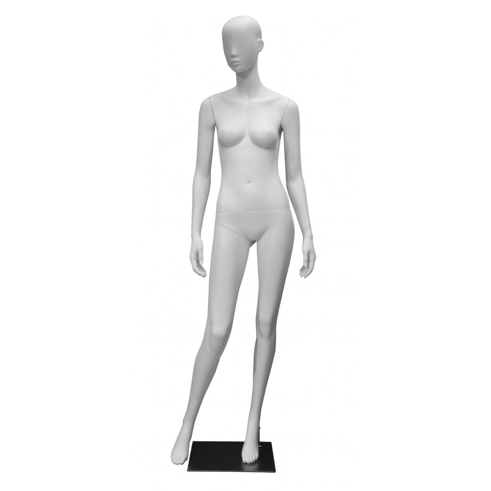 Манекен жіночий білий матовий без очей, GM-CH-690
