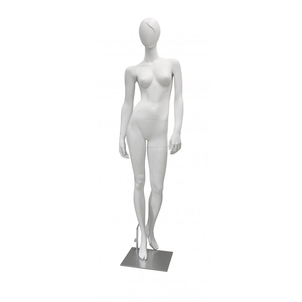 GM-M-LTD3B Манекен женский матовый белый (челка)