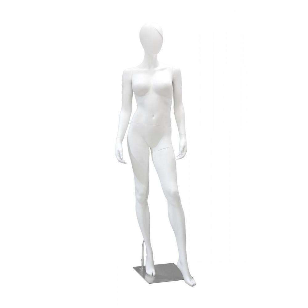 Манекен женский белый матовый (челка), GM-SW2