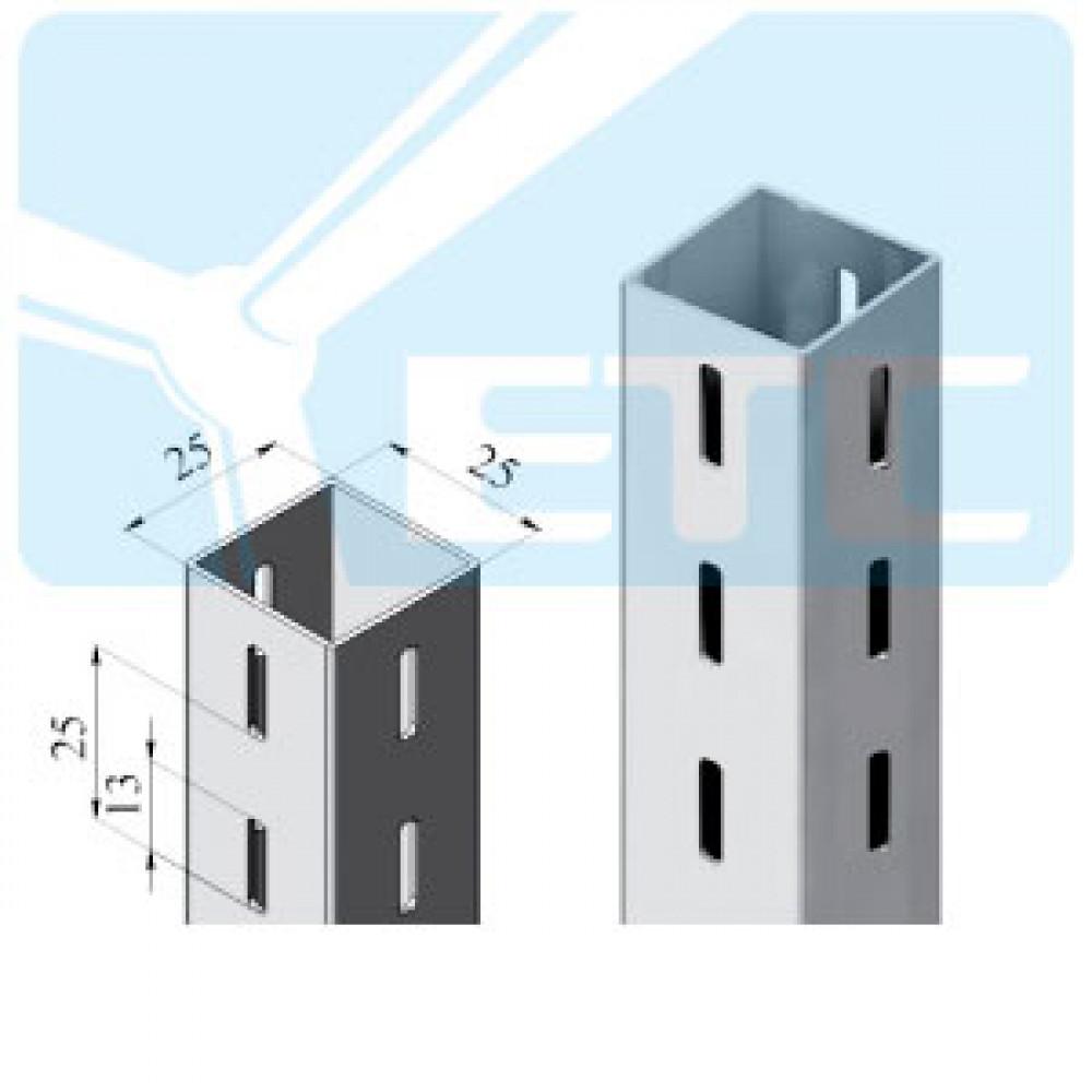 V3R-25b Профиль квадратный трехсторонний 25*25*1450 нерж.
