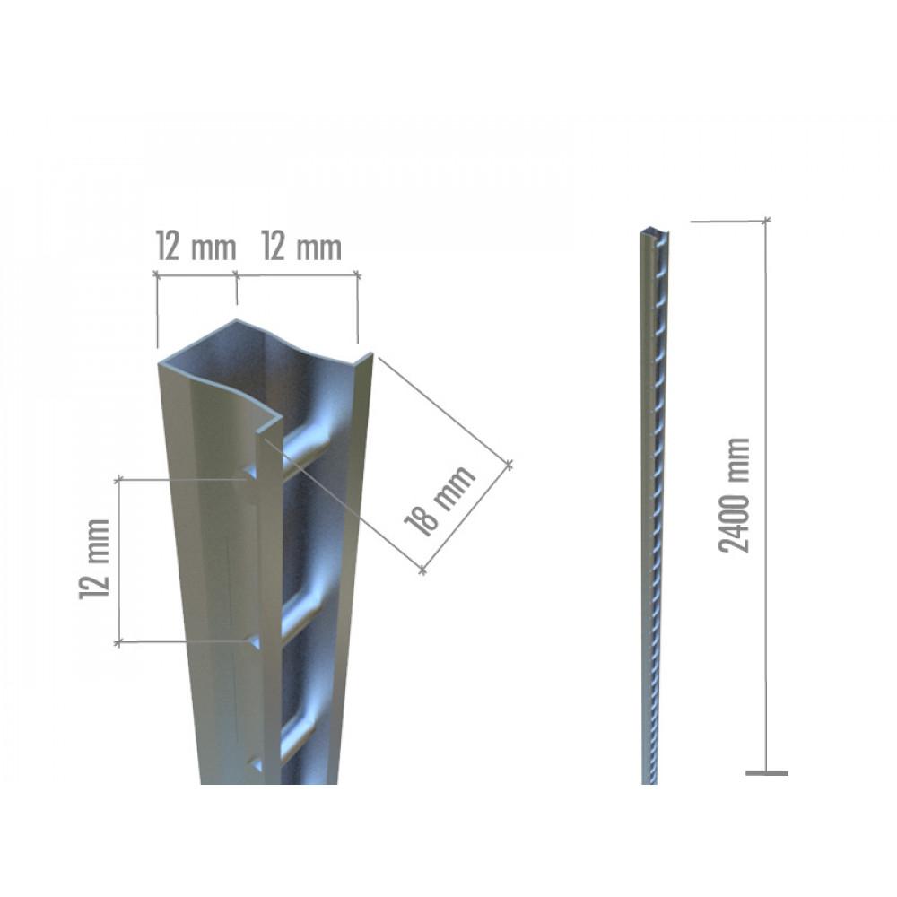 SC 001 Профиль пристенный 2400mm нерж.