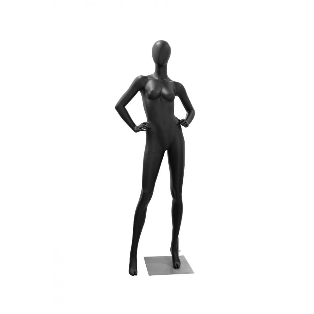 LORA-6 Манекен женский безликий, черный МАТ
