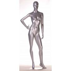 TC-5silver / Mic Манекен жіночий сріблястий БЕЗ МАКІЯЖУ