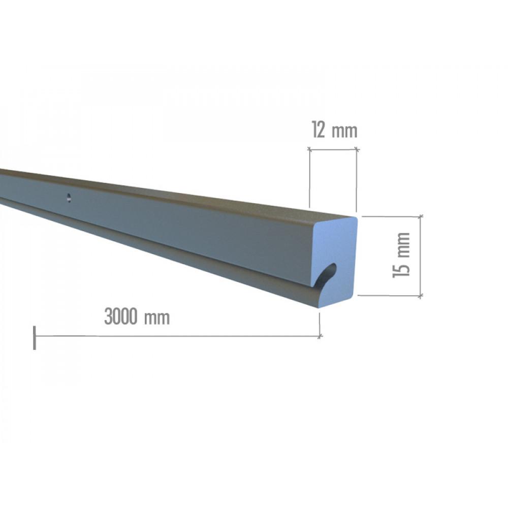 ML01 Профиль алюминиевый с пазом 3000мм.