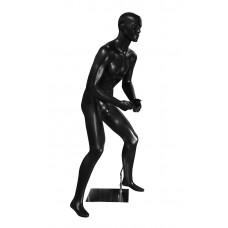 FM-SKT-1 Манекен мужской черный с рельеф.лицом