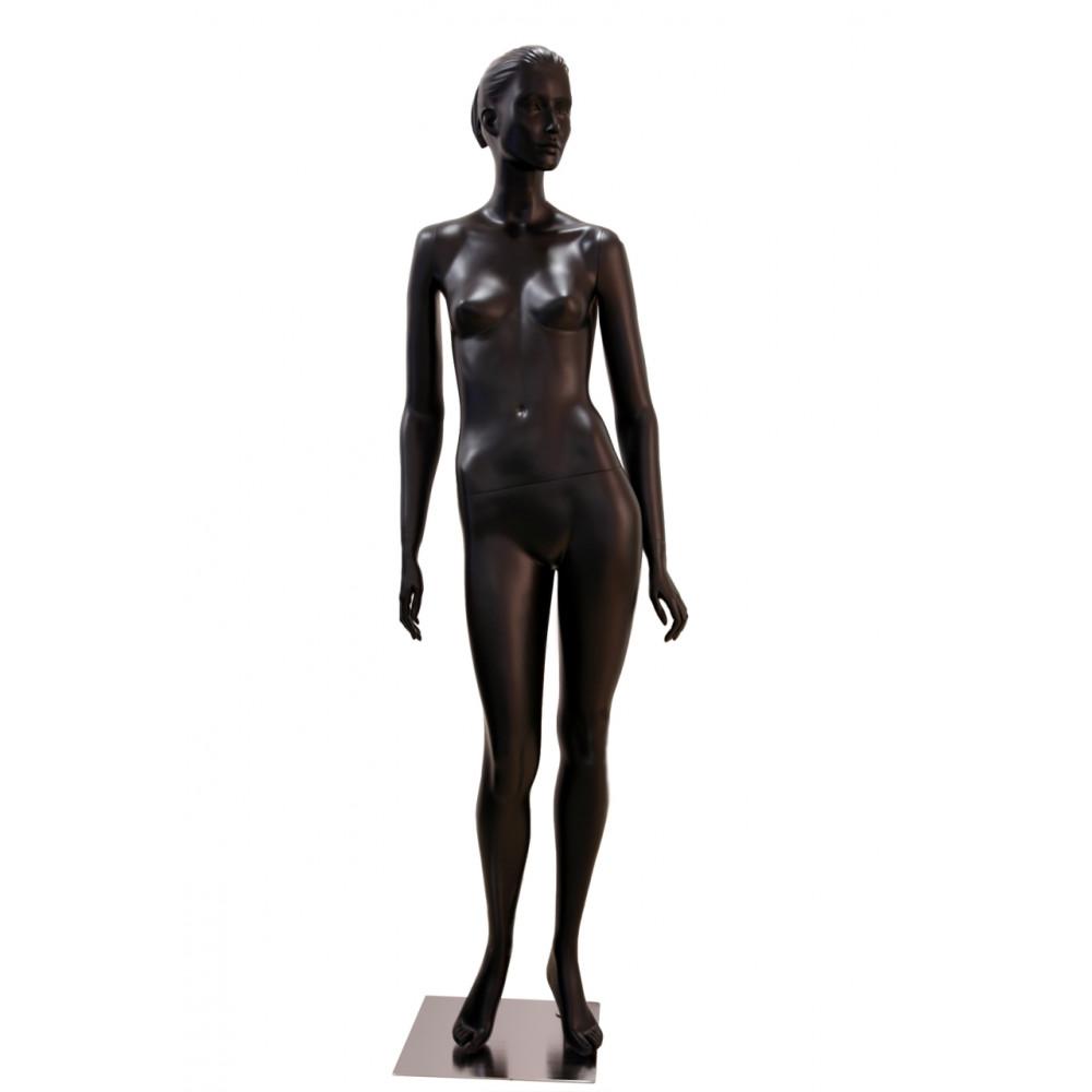 Манекен жіночий чорний реалістичний, TA-2 black