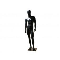 FBME-СН2 Манекен чоловічий безликий чорний глянець