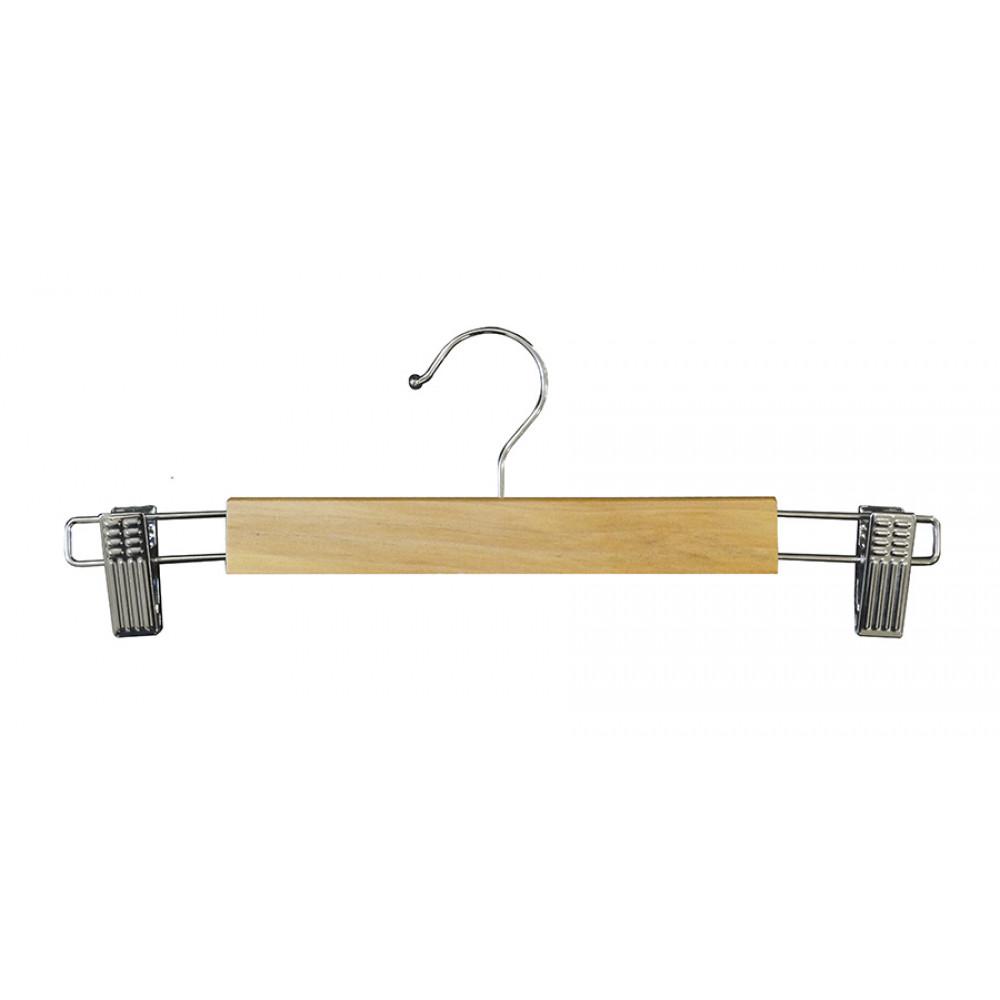 Плечики  для брюк  деревянные с прищепками type 5АВ Бук 33 см